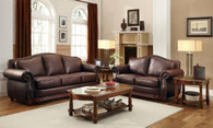 MIDWOOD COLLECTION CHAIR SOFA AND LOVE SEAT 3 PCS SET-9616BRW