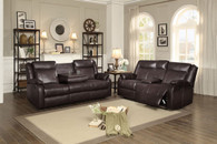 JUDE RECLINING SOFA AND LOVE SEAT 2 PCS SET-8201BRW