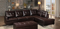 BARRINGTON SECTIONAL SOFA BROWN-8378BRW