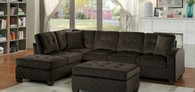 EMILIO REVERSIBLE SECTIONAL CHOCOLATE FABRIC-8367CH