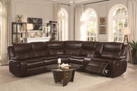 BASTROP SECTIONAL DARK BROWN-8230BRW