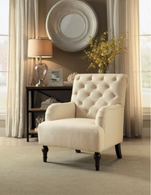 ACCENT TUFTED COTSWOLD COLLECTION BEIGE COLOR
