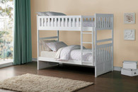 GALEN FULL OVER FULL BUNK BED WHITE-B2053FFW-1