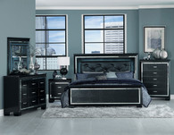 ALLURA COLLECTION 6 PCS BEDROOM SET-1916BK