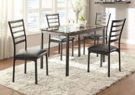 FLANNERY COLLECTION DINING TABLE 5 PCS SET-5038