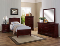 HELENE TWIN CHERRY BEDROOM SET