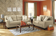 LARYN KHAKI COLLECTION SOFA AND LOVE SEAT 2 PCS SET-51902-38-35