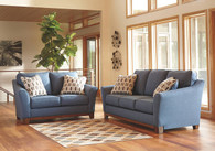 JANLEY DENIM COLLECTION SOFA AND LOVE SEAT 2 PCS SET-43807-38-35