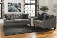 BRINDON CHARCOAL COLLECTION SOFA AND LOVE SEAT 2 PCS SET-53901-38-35