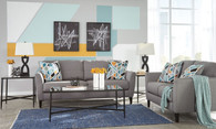 PELSOR GRAY COLLECTION SOFA AND LOVE SEAT 2 PCS SET-63403-38-35