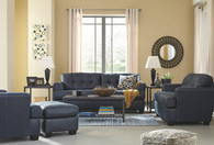 INMON NAVY COLLECTION SOFA AND LOVE SEAT 2 PCS SET-65806-38-35