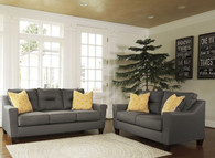 FORSAN NUVELLA GRAY COLLECTION SOFA AND LOVE SEAT 2 PCS SET-66902-38-35