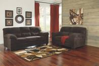 ZORAH CHOCOLATE COLLECTION SOFA AND LOVE SEAT 2 PCS SET-94501-38-35