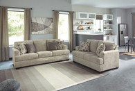 BARRISH SISAL COLLECTION SOFA AND LOVE SEAT 2 PCS SET-48501-38-35