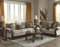 LAYTONSVILLE PEBBLE COLLECTION SOFA AND LOVE SEAT 2 PCS SET-72002-38-35