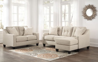 ALDIE NUVELLA SAND COLLECTION SOFA CHAISE AND LOVE SEAT 2 PCS SET-68705-18-35