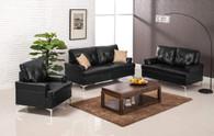 Skyhouse Black 3 Pcs Living Room Set Sofa Loveseat & Chair