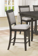 FULTON COUNTER HEIGHT CHAIR GREY 2 PCS SET-2727GY-S-24