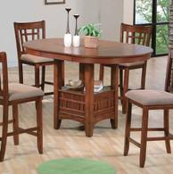 EMPIRE COUNTER HEIGHT TABLE OAK FINISH-2185-OAK-T