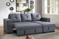 CONVERTIBLE SECTIONAL SET BLUE GREY-F6910