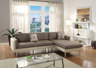 2PCS COFFEE / PLATINUM SECTIONAL SOFA SET-F6553