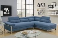2PCS BLUE COLOR SECTIONAL SET-F6541