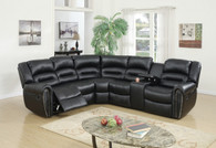3PCS RECLINING SECTIONAL BLACK-F6743