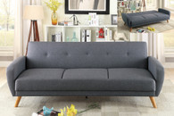 ADJUSTABLE SOFA BLUE GREY-F6851