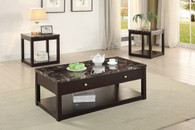 3PCS MARBLE FINISH COFFEE TABLE SET-F3141