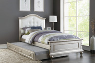 TWIN BED W/TRUNDLE WHT-F9378