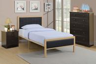 TWIN/FULL BED PU BLACK-F9393
