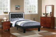 TWIN BED PU ASH BLACK-F9376