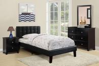 TWIN BED PU BLACK-F9360