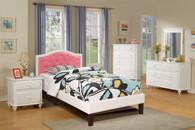 TWIN BED PU WHT-F9362