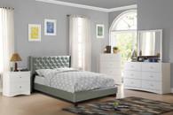 FULL BED NAILHEAD SILVER-F9373