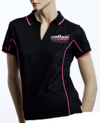 BLACK/PINK POLO T-SHIRT