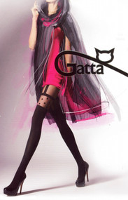 Gatta Girl-Up 12 Patterned Tights Imitating stocking