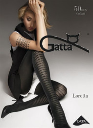 Loretta 101 Patterned Tights 50 Den