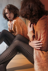 Naomi 02 Diamond Shape Patterned Tights 40 Den