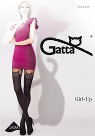Girl-Up Cat Patterned Tights