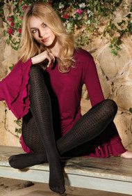 Loretta 110 Patterned Tights 50 Den