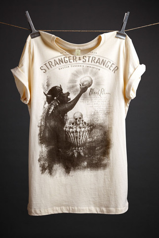Black Rhum T-Shirt (cream) - Stranger & Stranger