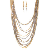 Chained Melody Necklace and Earring Set