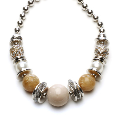 Honey Glow Bead Necklace
