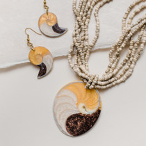 Beach Bumming Necklace and Earring Set