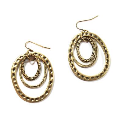 Tunnel of Love Earrings in Gold