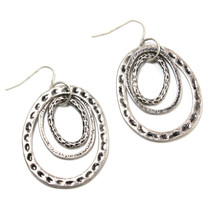 Tunnel of Love Earrings in Silver