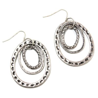 Tunnel of Love Earrings in Silver