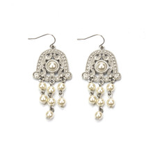 Camelot Pearl and Crystal Earrings