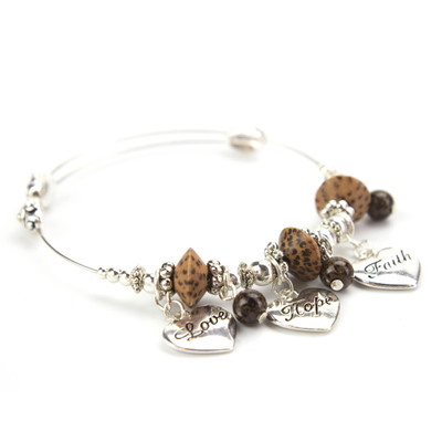 Blessings Faith Hope Love Charm Bracelet